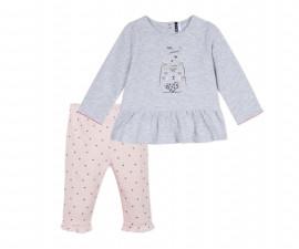 Детски комплект блузка с панталон 3Pommes 3P36070-21, за момиче на възраст 0-6 м.