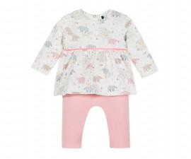 Детско боди блузка с панталон 3Pommes 3P32090-19, за момиче на възраст 0-6 м.