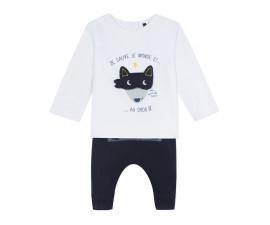 Детски комплект блузка с панталон 3Pommes 3P36021-48, за момче на възраст 0-6 м.