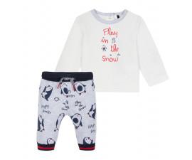 Детски комплект блузка с панталон 3Pommes 3P36001-491, за момче на възраст 0-6 м.