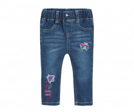 Детски дънки с бродерии 3Pommes 3P22042-44, за момиче на възраст 6 м. - 4 г.