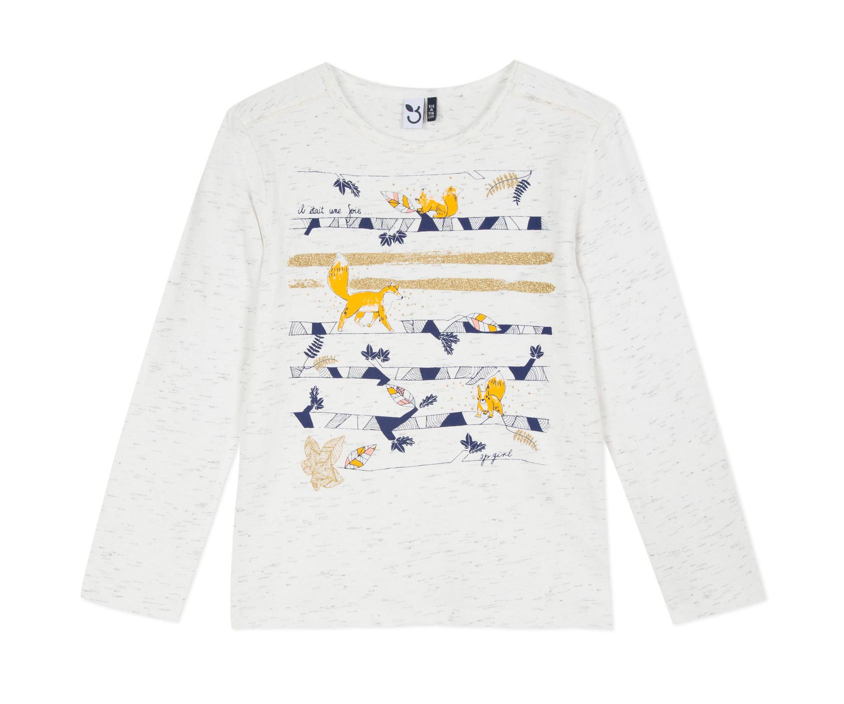 Детска блуза с дълъг ръкав 3Pommes 3P19014-19, за момиче на възраст 3-12 г.