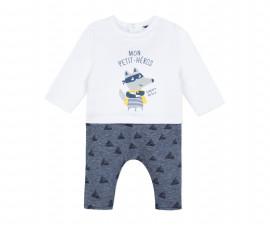Детско боди блузка с панталон 3Pommes 3P32021-48, за момче на възраст 0-6 м.