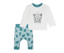 Детски комплект блузка с панталон 3Pommes 3P36011-443, за момче на възраст 0-9 м.