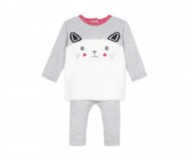 Детски комплект блузка с панталон 3Pommes 3P36050-21, за момиче на възраст 0-3 м.