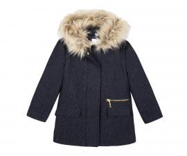 Детско палто с качулка 3Pommes 3P44024-485, за момиче на възраст 3-12 г.