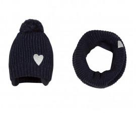 Детска шапка и шал 3Pommes 3P90002-485, за момиче на възраст 3 м. - 3 г.