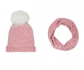 Детска шапка и шал 3Pommes 3P90014-325, за момиче на възраст 4-12 г.
