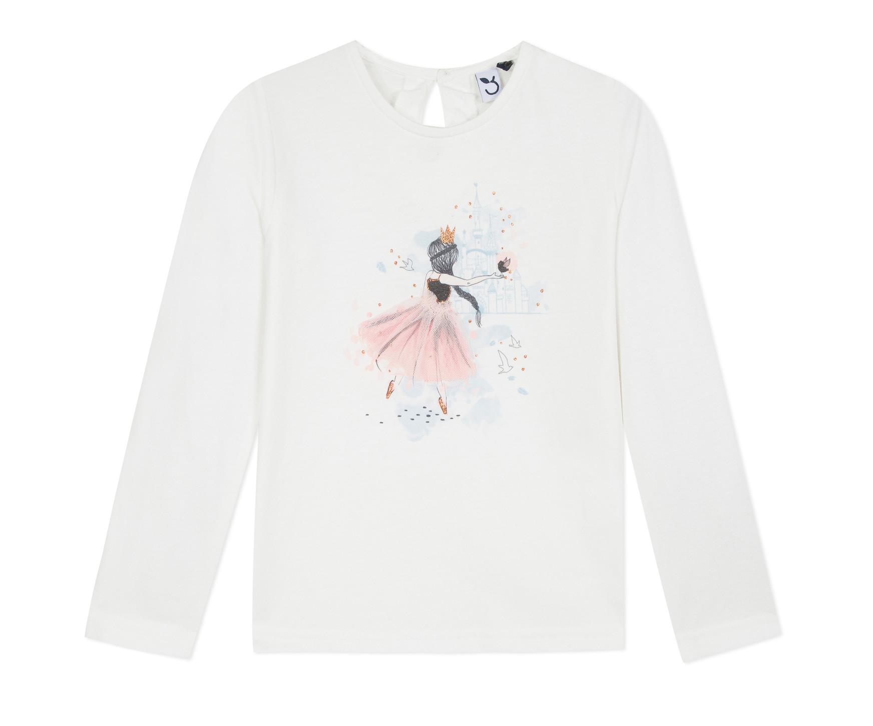 Детска блуза c дълъг ръкав 3Pommes 3P10044-19, за момиче на възраст 3-12 г.