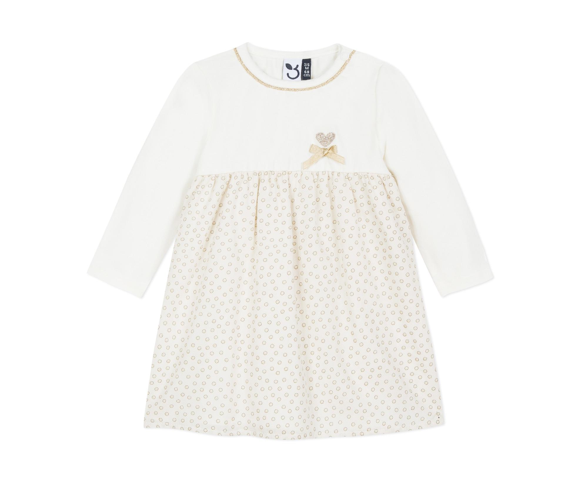 Детска рокля с дълъг ръкав 3Pommes 3P30152-19, за възраст 6 м.-4 г.