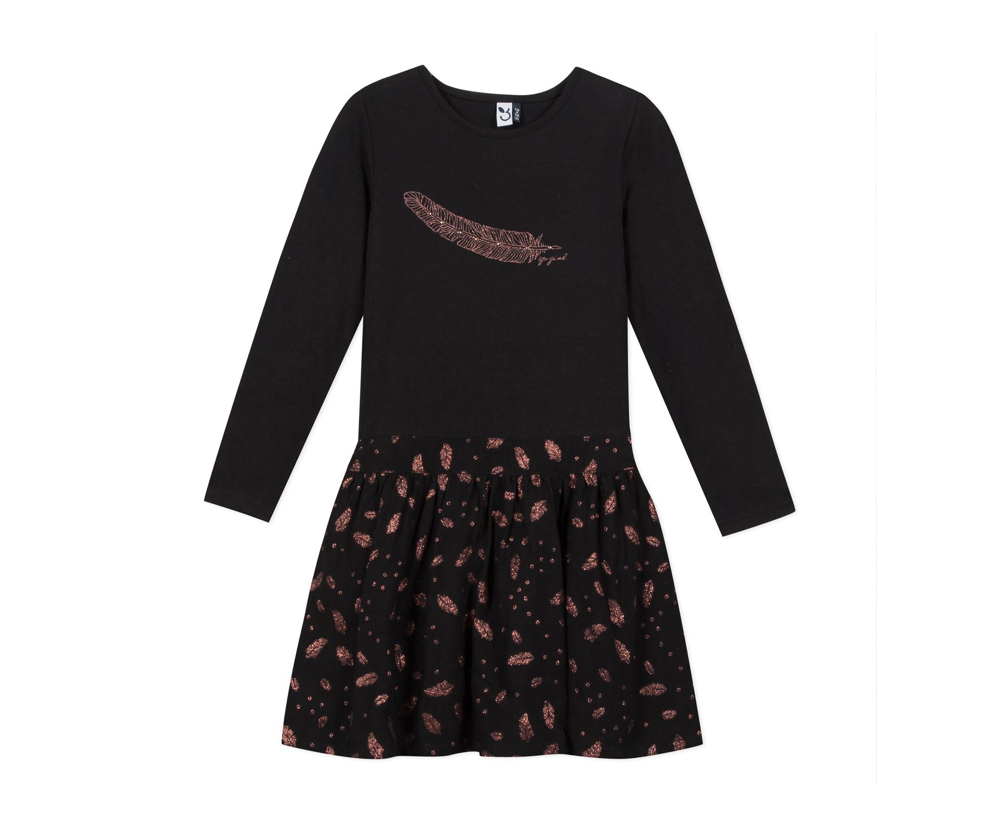 Детска рокля с дълъг ръкав 3Pommes 3P30154-02, за възраст 3-12 г.