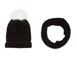 Детска шапка и шал 3Pommes 3P90014-02, за момиче на възраст 4-12 г.