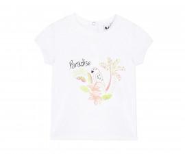 Детска тениска с къс ръкав 3Pommes 3Q10002-01, за момиче на възраст 6 м.-4 г.