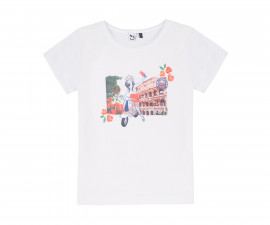 Детска тениска с къс ръкав 3Pommes 3Q10014-01, за момиче на възраст 4-14 г.