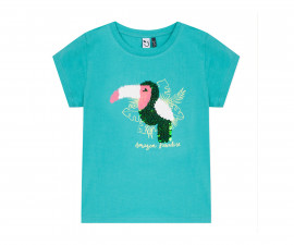 Детска тениска с къс ръкав 3Pommes 3Q10034-55, за момиче на възраст 4-14 г.
