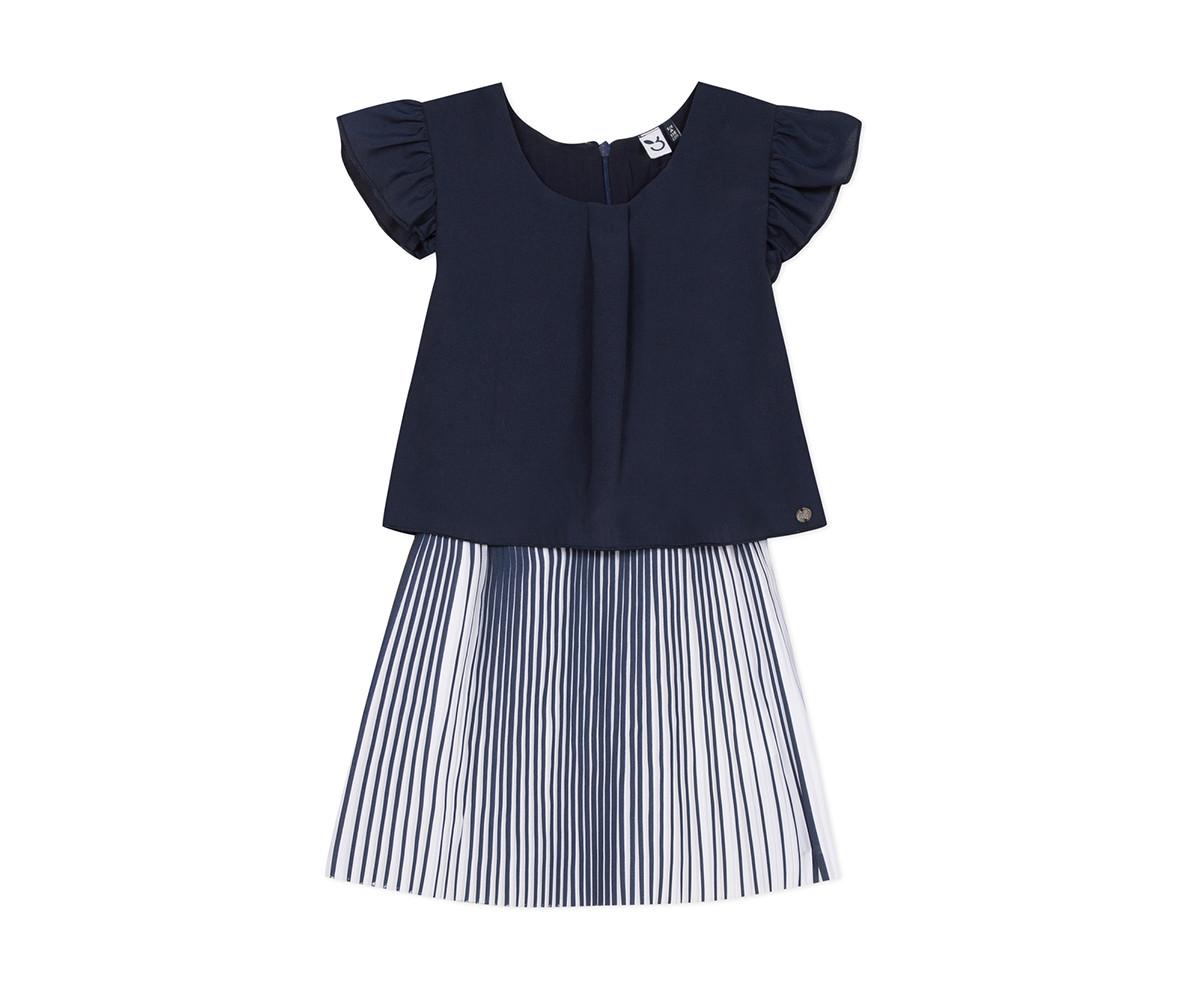 Детска рокля с къс ръкав 3Pommes 3Q31074-449, за възраст 4-14 г.