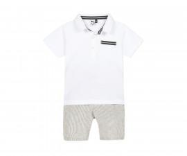 Комплект детска тениска с детски бермуди 3Pommes 3Q37003-610, за момче на възраст 6 м.-4 г.