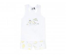 Комплект детски потник с детски къси панталони 3Pommes 3Q37012-01, за момиче на възраст 2-3 г.