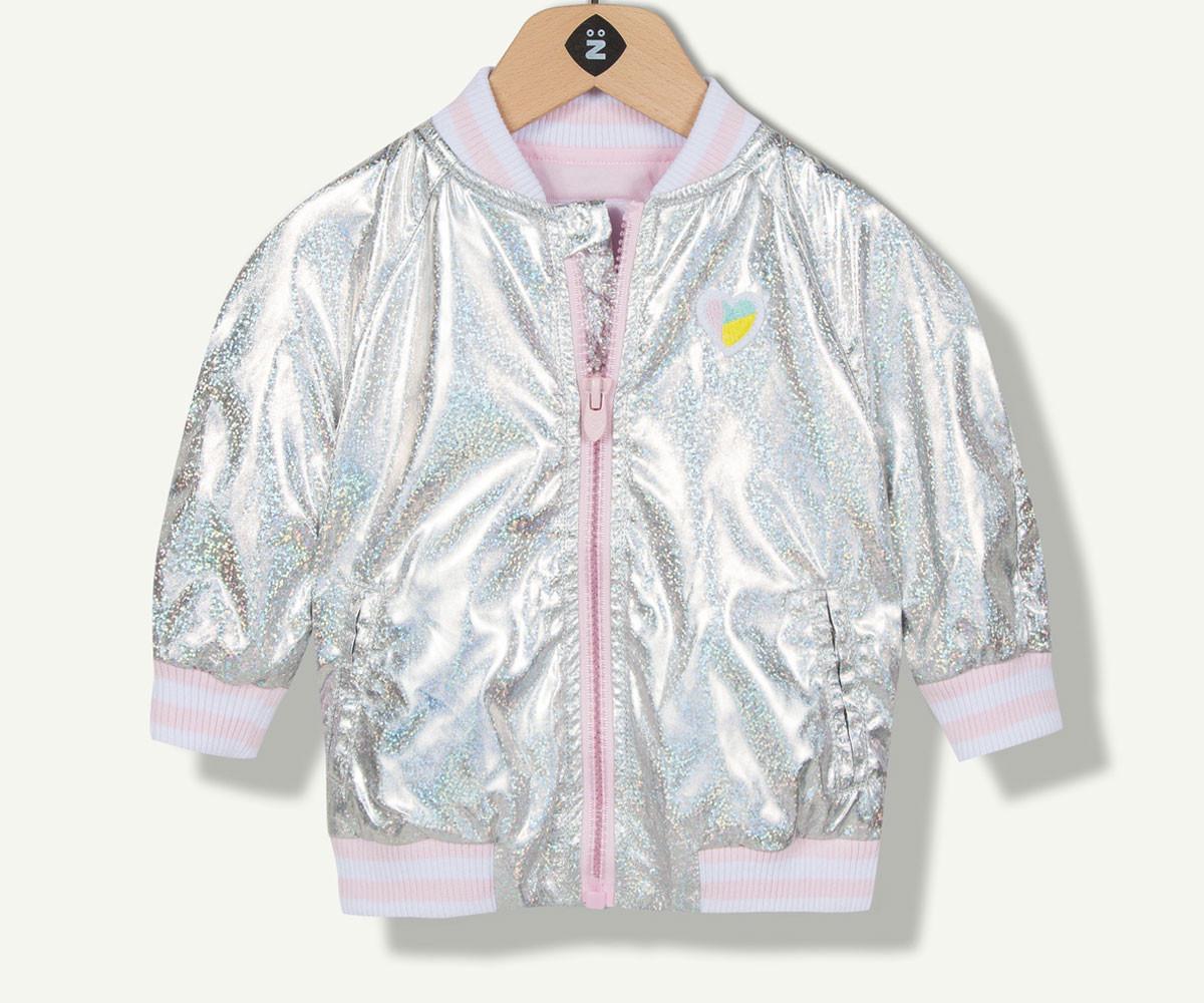 сребристо яке марка Z с фабричен № 1N40040-18, за момиче за възраст 6 м.- 4 г.