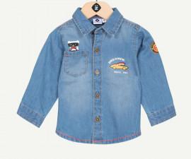 Детска дънкова риза с дълъг ръкав Z 1P12000-46, момче, 3-36 м.