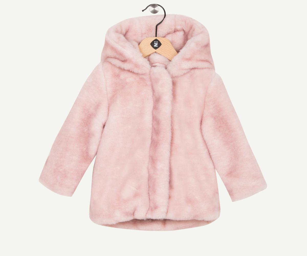 Детско палто от изкуствена кожа с качулка Z 1P44060-31, момиче, 6-36 м.