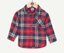 Детска риза с дълъг ръкав, каре Z 1P12090-03, момче, 3-36 м.