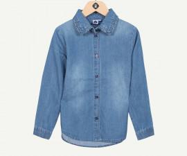 Детска дънкова риза с дълъг ръкав Z 1P12021-44, момиче, 3-14 г.