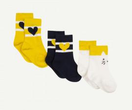 Детски чорапи, 3 чифта Z 1P93050-75, момиче, №15-18