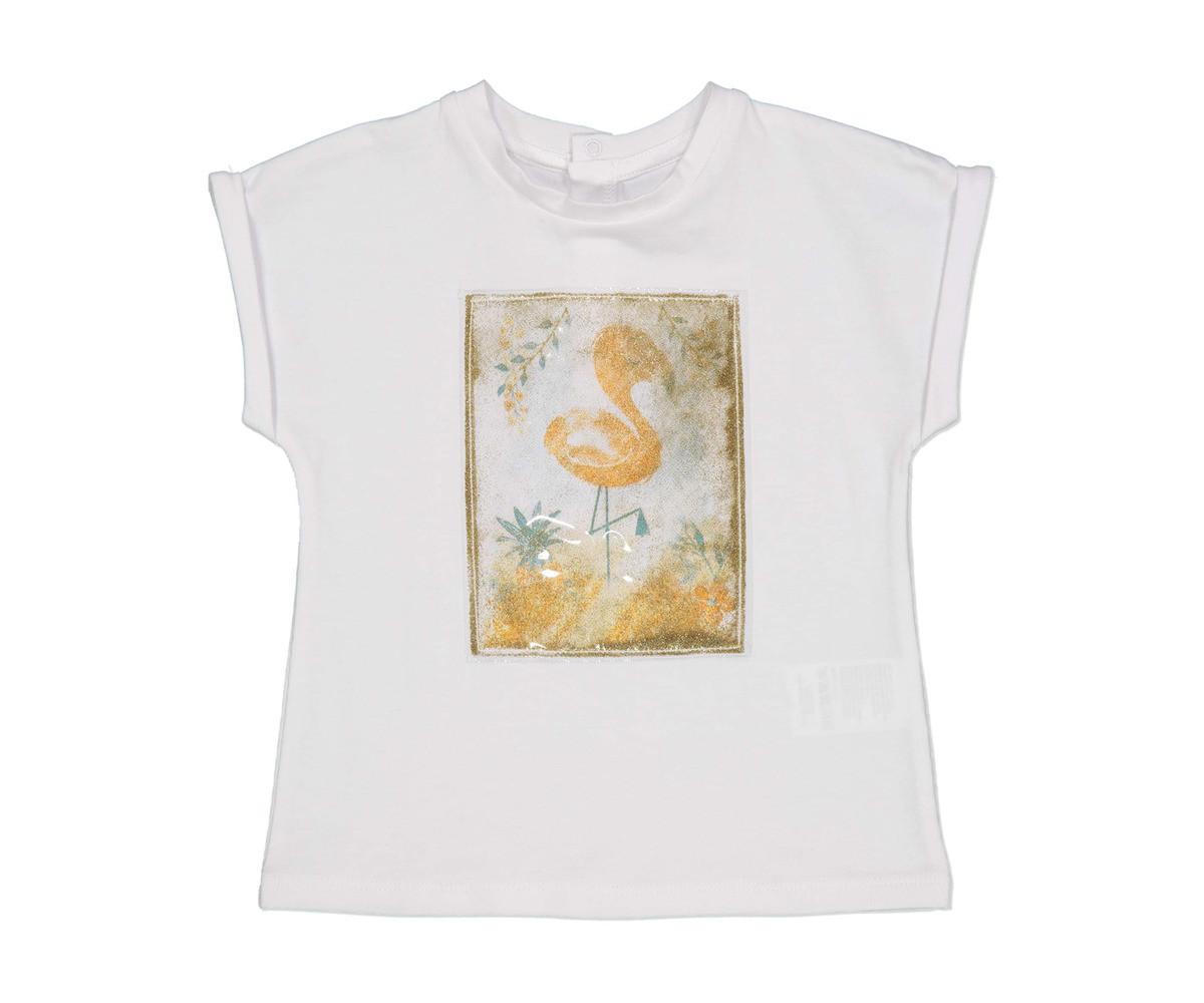 Тениска с къс ръкав Бирба 64100-11A, момиче, размери:1-2.5 г.