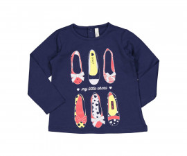 Блуза с дълъг ръкав Бирба 64026-75G, момиче, размери:9 м.-2.5 г.