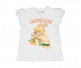Детска тениска с къс ръкав Birba 84033-11A, момиче, 6-30 м.