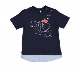 Детска тениска с къс ръкав Birba 84052-75F, момче, 6-24 м.