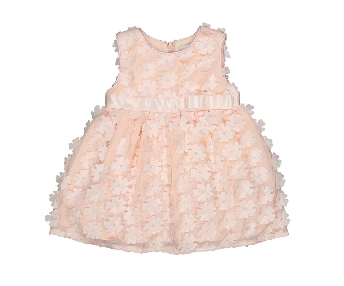 Детска рокля без ръкав с апликирани цветя Birba 85320-50F, 6-24 м.