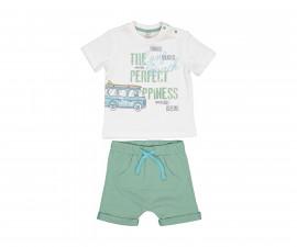 Детски комплект тениска с къси панталони Birba 89027-11A, момче, 24 м.