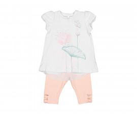 Детски комплект блуза с клин Birba 89030-11A, момиче, 6-24 м.