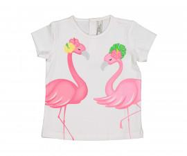 Детска тениска с къс ръкав Birba 84094-11A, момиче, 6-30 м.