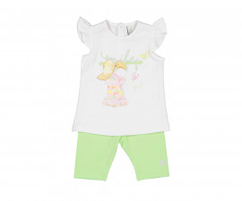 Детски комплект тениска и клин Birba 89035-11A, момиче, 9 м.