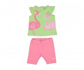 Детски комплект тениска и клин Birba 89035-25K, момиче, 6-30 м.