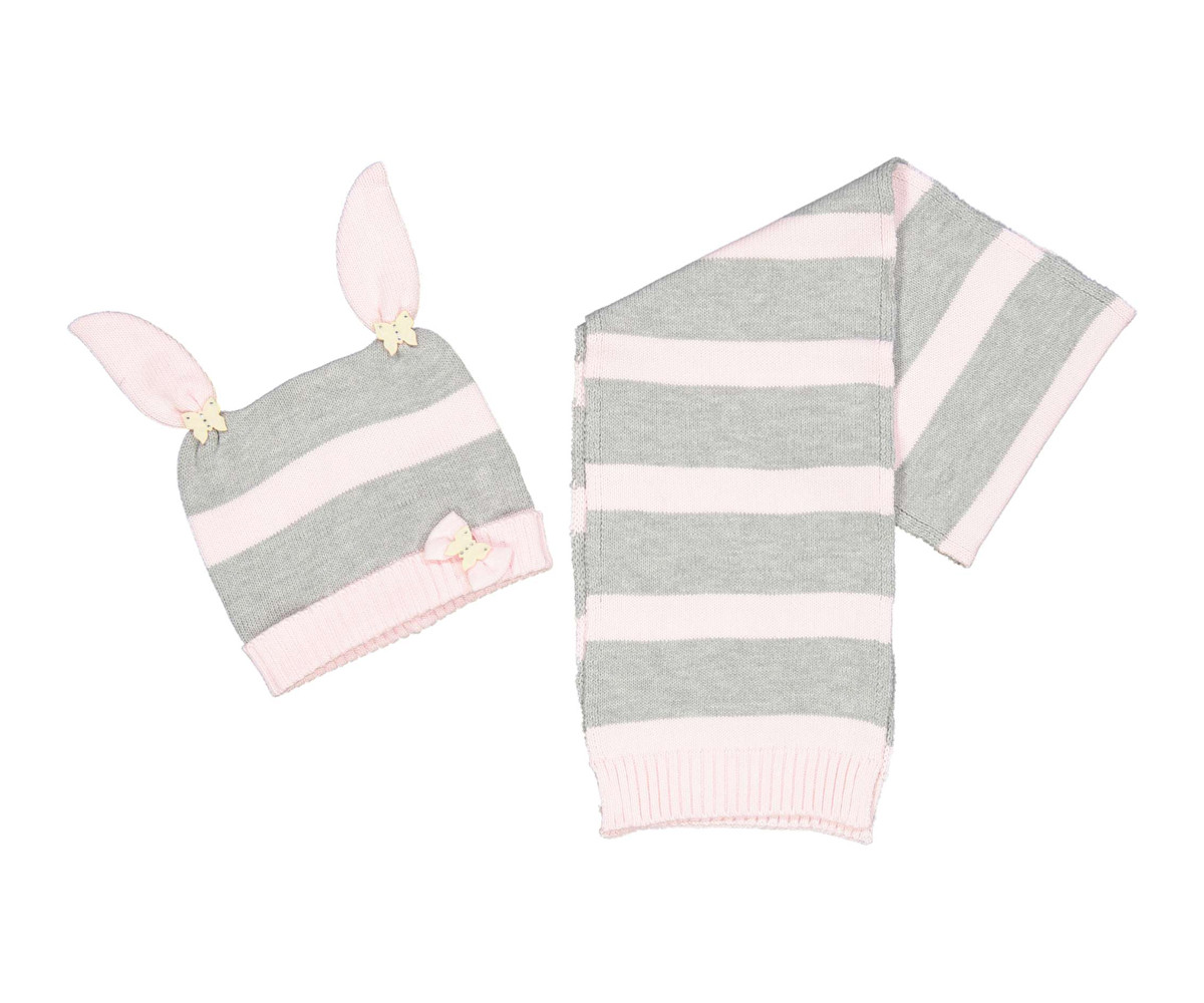 Детска шапка и шал Бирба 99066-95Z, за момиче размер: 48-50
