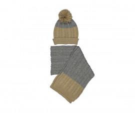Детска шапка и шал Бирба 99069-91Z, за момче размер: 48-50