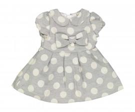 Детска рокля с къс ръкав Бирба 95302-94Z, за възраст 6-12 м.