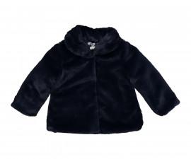 Детско палто с яка Бирба 97015-72J, момиче, 12-30 м.