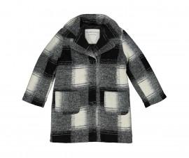 Детско палто с яка Трибеонд 97995-90Z, момиче, 7-12 г.