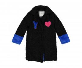 Детско палто с яка Трибеонд 97996-10A, момиче, 4-9 г.