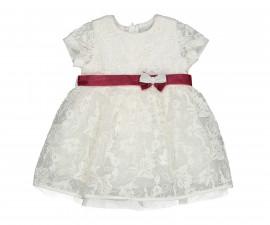 Детска рокля с къс ръкав с дантела Birba 95327-91z, 12-30 м.