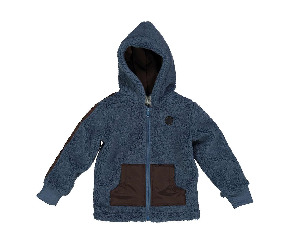 Детски поларен суитшърт с качулка и цип Trybeyond 96932-60u за момче, 3-9 г.