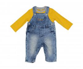 Детски комплект блуза с дънков гащеризон Birba 99002-97z за момче, 3-9 м.