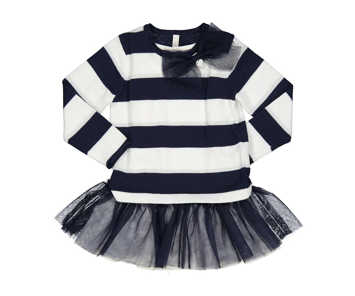 Детски комплект пуловер с пола Birba 99019-97z за момиче, 12-30 м.