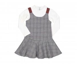 Детски комплект сукман с блуза Trybeyond 99992-95w за момиче, 4-12 г.