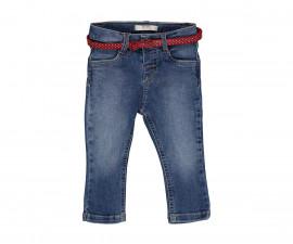 Детски дънки с коланче Birba 22504-60A за момиче, 9-30 м.